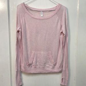 Lululemon Pink Cashmere Tencel Blend Sweater